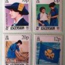Sellos: ASCENSIÓN. 382/85 AÑO INTERNACIONAL DE LA JUVENTUD Y 75 ANIVERSARIO MOVIMIENTO SCOUT FEMENINO. 1985.. Lote 147802392