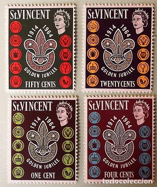 SAN VICENTE. 188/91 CINCUENTENARIO DEL SCOUTISMO LOCAL: EMBLEMAS. 1964. SELLOS NUEVOS Y NUMERACIÓN Y (Sellos - Temáticas - Boy Scout)