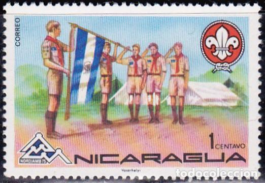 1975 - NICARAGUA - ENCUENTRO MUNDIAL SCOUTS - LILLEHAMMER NORUEGA - YVERT 1020 (Sellos - Temáticas - Boy Scout)