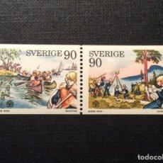 Sellos: SUECIA Nº YVERT 900/1*** AÑO 1975 REUNION DE SCOUTS EN LILLEHAMMER. Lote 151905946