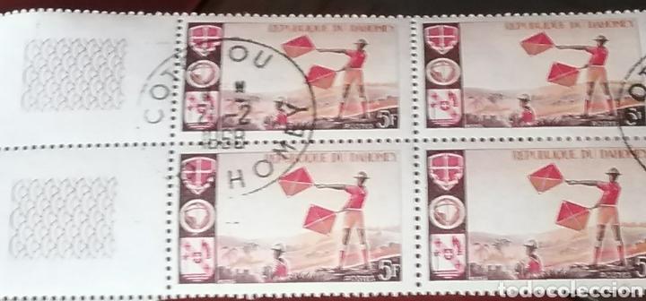 SELLOS REINO DAHOMEY (BENIN) MTDOS/1966/SCOUT/SEÑALIZACION/PAISAJE/NATURALEZA/BANDERAS/UNIFORMES/ (Sellos - Temáticas - Boy Scout)