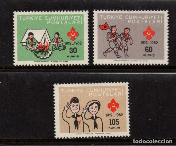 TURQUIA 1621/23** - AÑO 1962 - 50º ANIVERSARIO DEL MOVIMIENTO SCOUT TURCO (Sellos - Temáticas - Boy Scout)