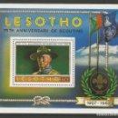 Sellos: LESOTHO 1982 - BLOQUE - 75. ANIVERSARIO DE SCOUTING 1907 - 1982. Lote 158464890