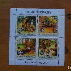Stamps - BOY SCOUTS-EURO ESKUTISMO'2004-S.TOME Y PRINCIPE-2004-MINIPLIEGO**(MNH) - 159105718