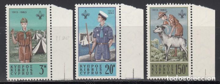 CHIPRE, 1963 YVERT Nº 212 / 214 /**/, BOY SCOUTS. (Sellos - Temáticas - Boy Scout)