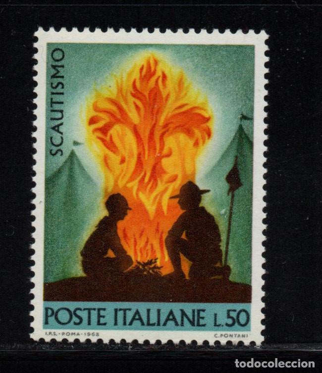ITALIA 1012** - AÑO 1968 - MOVIMIENTO SCOUT (Sellos - Temáticas - Boy Scout)