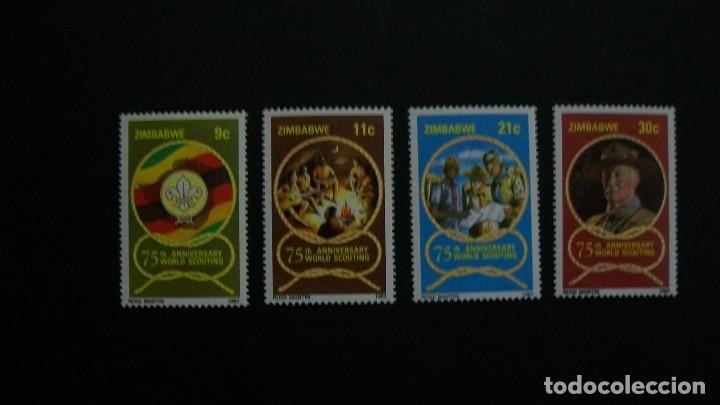 BOY SCOUTS-ZIMBABWE-1982-SERIE COMPLETA**(MLH) (Sellos - Temáticas - Boy Scout)