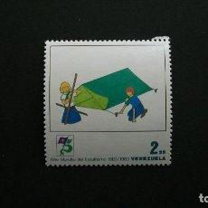 Sellos: BOY SCOUTS-AÑO MUNDIAL-VENEZUELA-1983-2,25B. SELLO EN NUEVO**(MNH). Lote 160467630