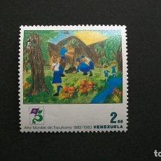 Sellos: BOY SCOUTS-AÑO MUNDIAL-VENEZUELA-1983-2,55B. SELLO EN NUEVO**(MNH). Lote 160467798