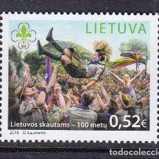 Sellos: LITUANIA 2018 100 ANIVERSARIO DEL MOVIMIENTO SCOUT EN LITUANIA. Lote 171152608