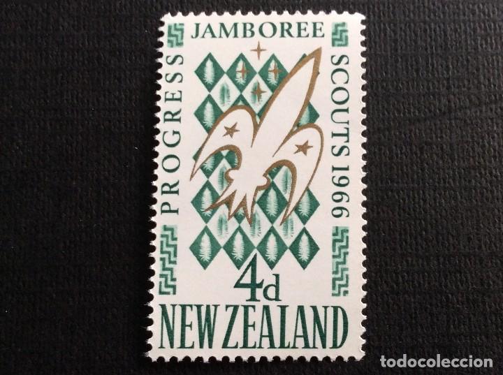 NUEVA ZELANDA Nº YVERT 437*** AÑO 1966. 4º JAMBOREE NACIONAL DE SCOUTS, EN TRENTHAM (Sellos - Temáticas - Boy Scout)