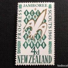 Sellos: NUEVA ZELANDA Nº YVERT 437*** AÑO 1966. 4º JAMBOREE NACIONAL DE SCOUTS, EN TRENTHAM. Lote 163800090