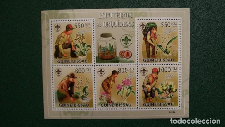 BOY SCOUTS-GINEA BISSAU-2009-MINIPLIEGO**(MNH) (Sellos - Temáticas - Boy Scout)