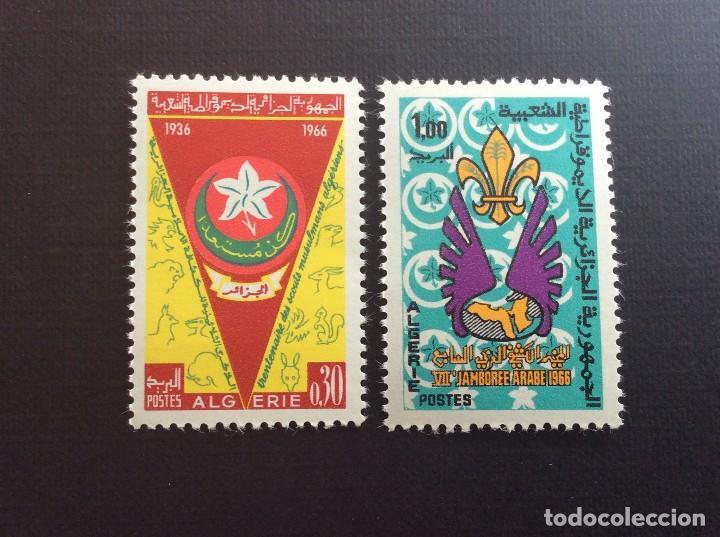 ARGELIA Nº YVERT 426/7*** AÑO 1966. 30 ANIVERSARIO SCOUTISMO EN ARGELIA (Sellos - Temáticas - Boy Scout)