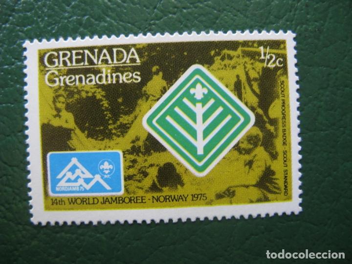 GRENADA, 1975 TEMA SCOUTISMO (Sellos - Temáticas - Boy Scout)