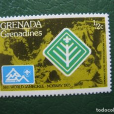 Sellos: GRENADA, 1975 TEMA SCOUTISMO. Lote 166601066