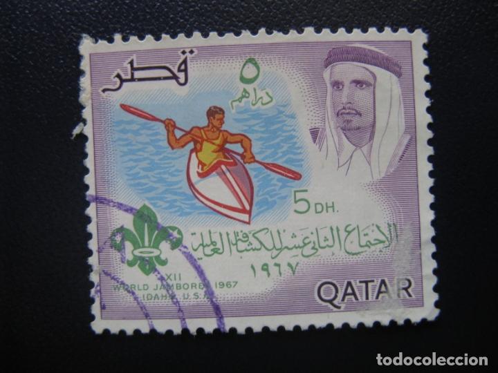 QATAR, 1967 SELLO USADO, TEMA SCOUTISMO (Sellos - Temáticas - Boy Scout)