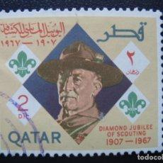 Sellos: QATAR, 1967 60 ANIV. DEL SCOUTISMO, . Lote 167686040