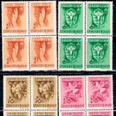 Sellos: HUNGRIA Nº 638/41, FIESTA DE LAS ORGANIZACIONES FEMENINAS DE LOS SCOUT AÑO 1939 NUEVO *** BLOQUE 4. Lote 168921148