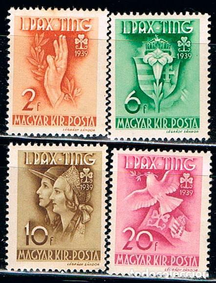 HUNGRIA Nº 638/41, FIESTA DE LAS ORGANIZACIONES FEMENINAS DE LOS SCOUT AÑO 1939 NUEVO *** (Sellos - Temáticas - Boy Scout)