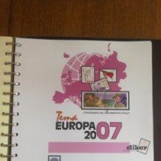 Sellos: TEMA EUROPA CEPT AÑO 2007 MUY COMPLETO Y NUEV0. Lote 174510544