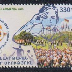 Sellos: ARMENIA 2018 100 ANIVERSARIO DE LOS SCOUTS EN ARMENIA. Lote 175557452