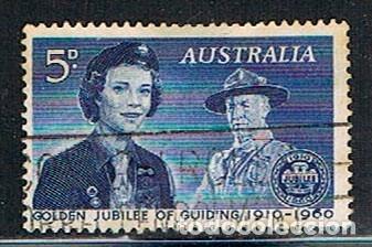 AUSTRALIA 304, 50 ANIVERSARIO DE LAS GUÍAS SCOUT FEMENINAS, USADO (Sellos - Temáticas - Boy Scout)