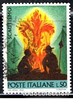 (I 702) SELLO DE ITALIA // YVERT 1012 // 1968 .. BOY SCOUTS (Sellos - Temáticas - Boy Scout)