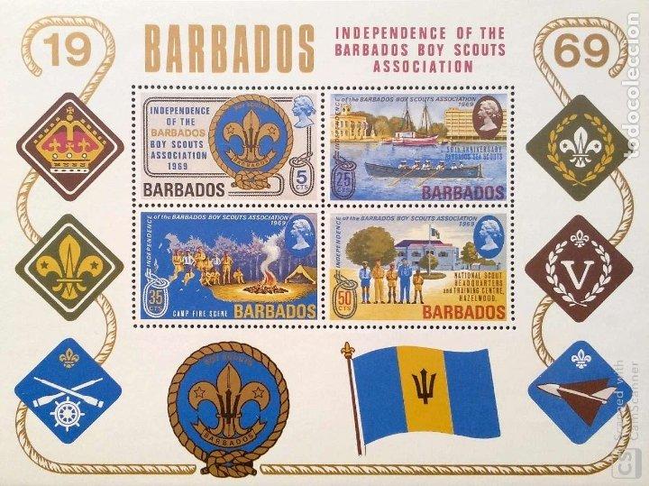 BARBADOS. HB 2 INDEPENDENCIA DEL MOVIMIENTO SCOUT. 1969. SELLOS NUEVOS Y NUMERACIÓN YVERT (Sellos - Temáticas - Boy Scout)