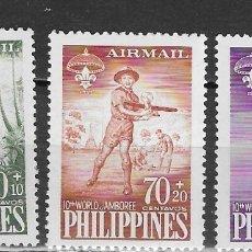 Sellos: FILIPINA Nº AE 55 AL 57 (**). Lote 182825327