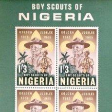 Sellos: NIGERIA. HB 5 BOYS SCOUTS. LORD BADEN-POWELL. 1965. SELLOS NUEVOS Y NUMERACIÓN YVERT. Lote 183516111