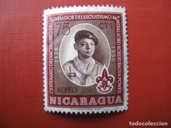 -NICARAGUA 1957, SELLO USADO,TEMA SCOUTISMO, YVERT 355 AEREO (Sellos - Temáticas - Boy Scout)