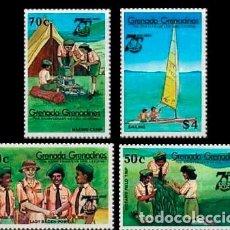 Sellos: GRENADA-GRENADINAS Nº 667/70, 75 ANIVERSARIO DE LAS GIRL GUIDING, BOY SCOUT, SELLOS NUEVOS *** (SERI. Lote 192079483