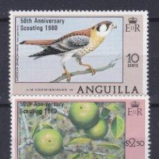 Sellos: ANGUILLA.- SERIE 348/49 CONMEMORATIVA 50 ANIVERSARIO. NUEVO SIN CHARNELA.. Lote 198677741