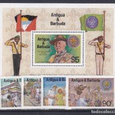 Francobolli: ANTIGUA & BARBUDA.- SERIE 668/71 Y HOJA BLOQUE. NUEVO SIN CHARNELA.. Lote 198677988