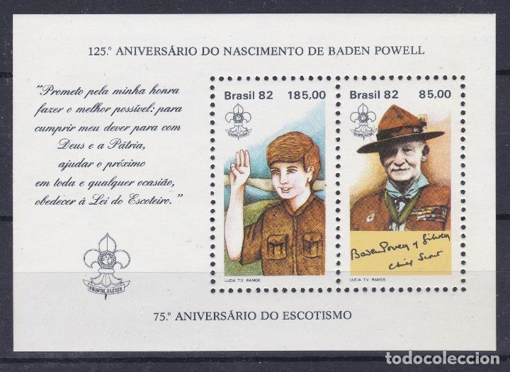 BRASIL.- HOJA BLOQUE. 50 NUEVO SIN CHARNELA. (Sellos - Temáticas - Boy Scout)