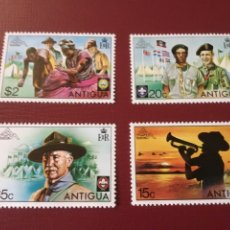 "Timbres: SELLOS ""BOY SCOUTS"" , ANTIGUA 1975. ""14 JAMBOREE MUNDIAL"".. Lote 198835675"