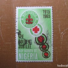 Timbres: NIGERIA 1965, 50 ANIV. MOVIMIENTO SCOUT, YVERT 167. Lote 199058825