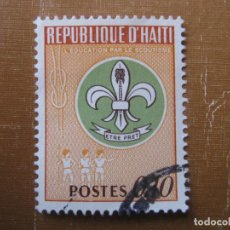 Timbres: HAITI 1967, EDUCACION POR EL SCOUTISMO, YVERT 589. Lote 199100241