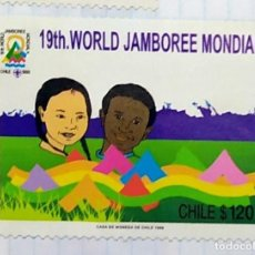Timbres: CHILE JAMBOREE SCOUT PICARQUIN YVERT 1998 01. Lote 201543405