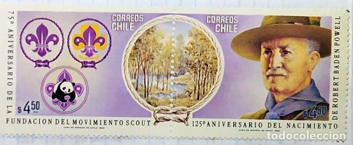 CHILE 125º ANIVERSARIO DEL NACIMIENTO DE LA FUNDACION DEL MOVIMIENTO SCOUT (Sellos - Temáticas - Boy Scout)