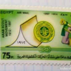 Timbres: EGIPTO AÑO 1988 MOVIMIENTO NACIONAL SCOUT EGYPT 02. Lote 201614560