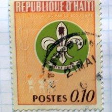 Timbres: HAITI EDUCACION ESCUDO DE LOS BOY SCOUT. Lote 201813555