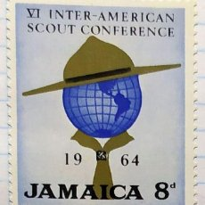 Timbres: JAMAICA VI INNTER AMERICAN SCOUT CONFERENCE BOY SCOUT 1964 02. Lote 201814023