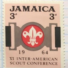 Timbres: JAMAICA VI INNTER AMERICAN SCOUT CONFERENCE BOY SCOUT 1964 03. Lote 201814026