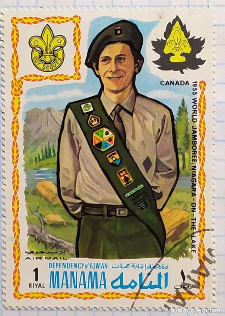 MANAMA 1955 13TH WORLD JAMBOREE NIAGARA ON THE LAKE REPRESENTANTE CANADA (Sellos - Temáticas - Boy Scout)