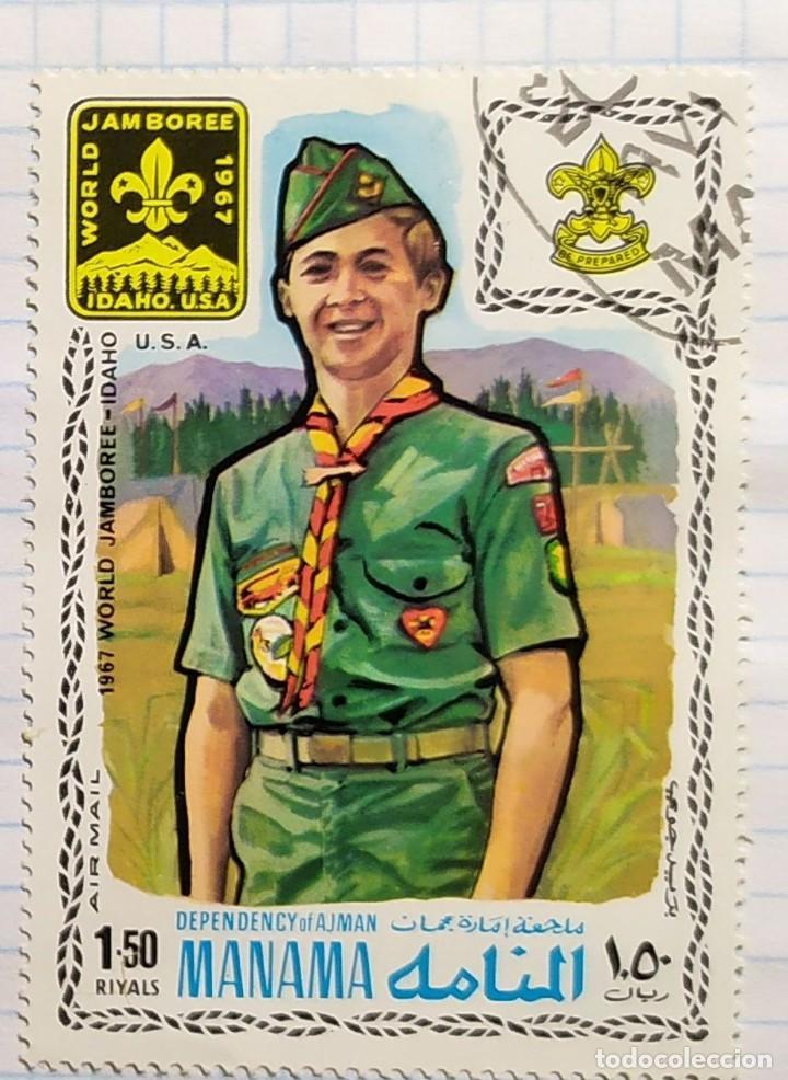 MANAMA 1967 WORLD JAMBOREE REPRESENTANTE USA (Sellos - Temáticas - Boy Scout)