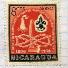 Timbres: NICARAGUA CENTENARIO NACIMIENTO ESCULTISMO BOY SCOUT BADEM POWELL 1856 - 1956. Lote 201850376