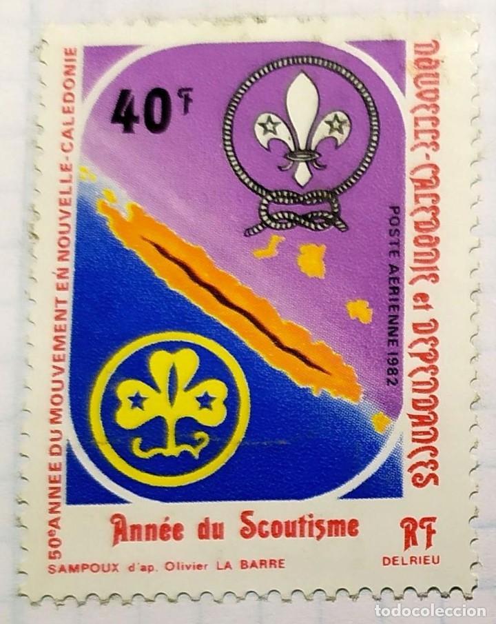 NUEVA CALEDONIA BOY SCOUTS ANNEE DU SCOUTISMO SAMPOUX OLIVIER LA BARRE 50 ANIVERSARIO (Sellos - Temáticas - Boy Scout)