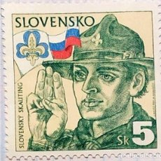 Timbres: ESLOVAQUIA BOY SCOUT 1995 YVERT190 SKAUTING. Lote 202087508